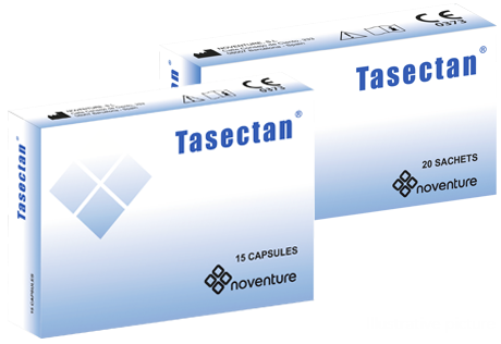 Tasectan sachets and capsules