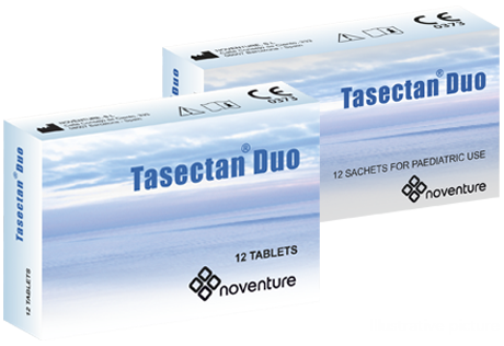 Tasectan Duo tablets and sachets